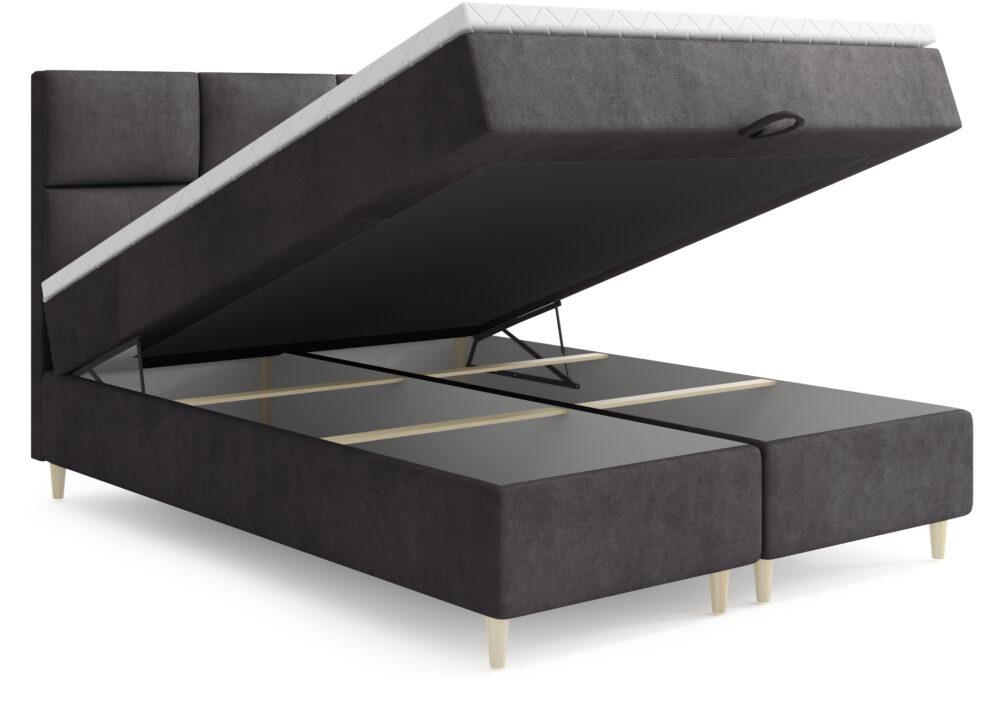 Łóżko kontynentalne Ryga (nogi metalowe)