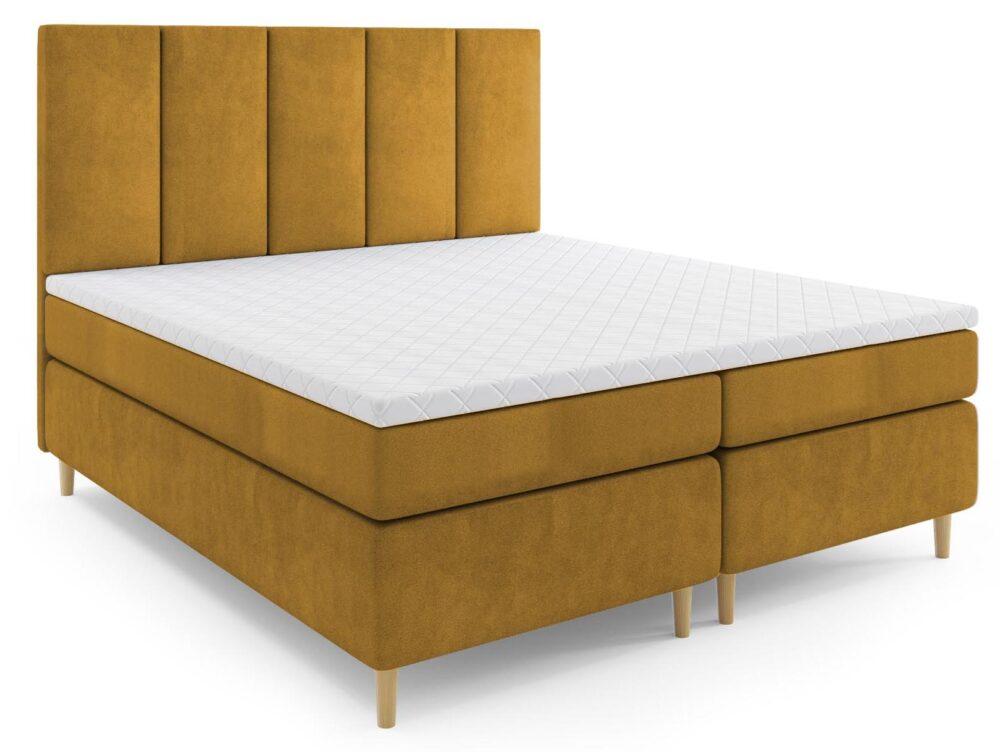Łóżko kontynentalne Latina (nogi drewniane)