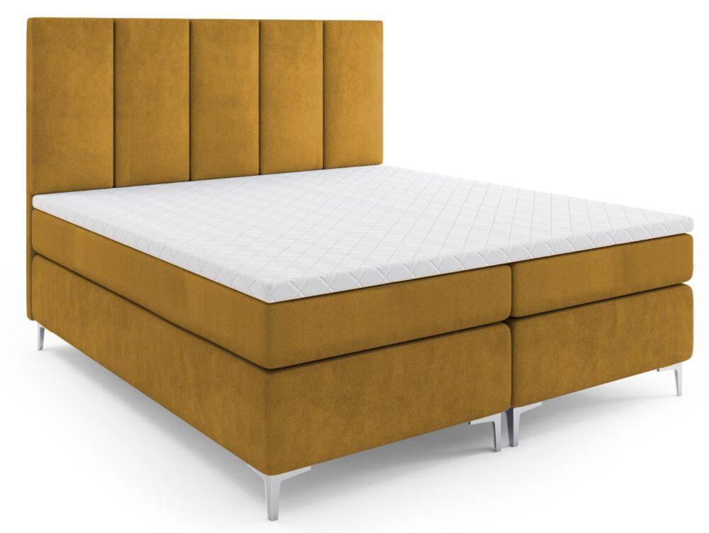 Łóżko kontynentalne Latina (nogi metalowe)